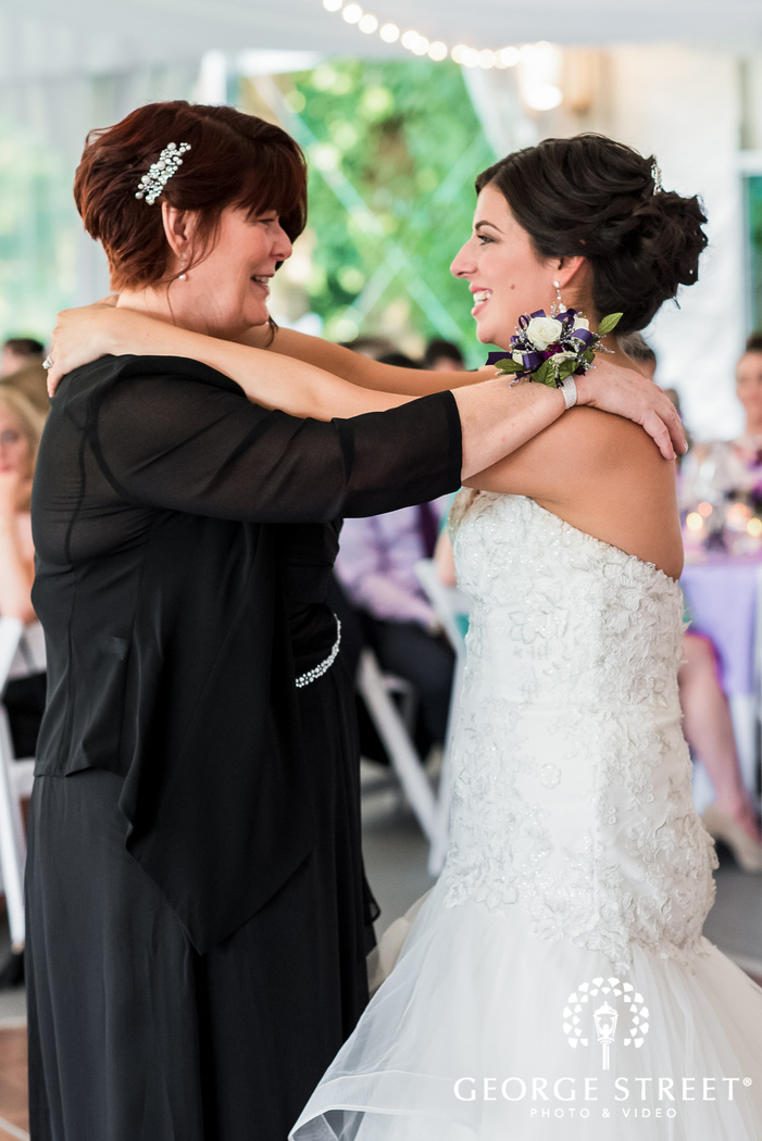 lovely bride and mother reception dance
