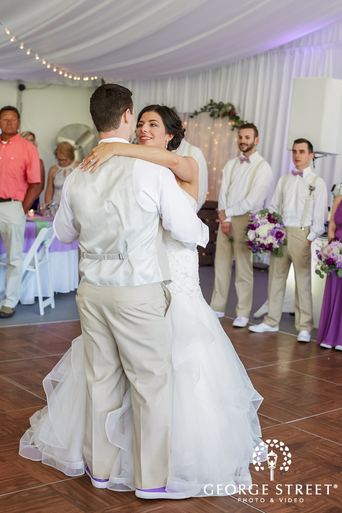 mesmerizing bride and groom reception dance