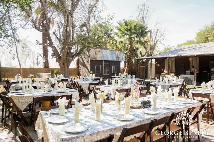 adorable reception venue at whispering tree ranch in phoenix wedding photos