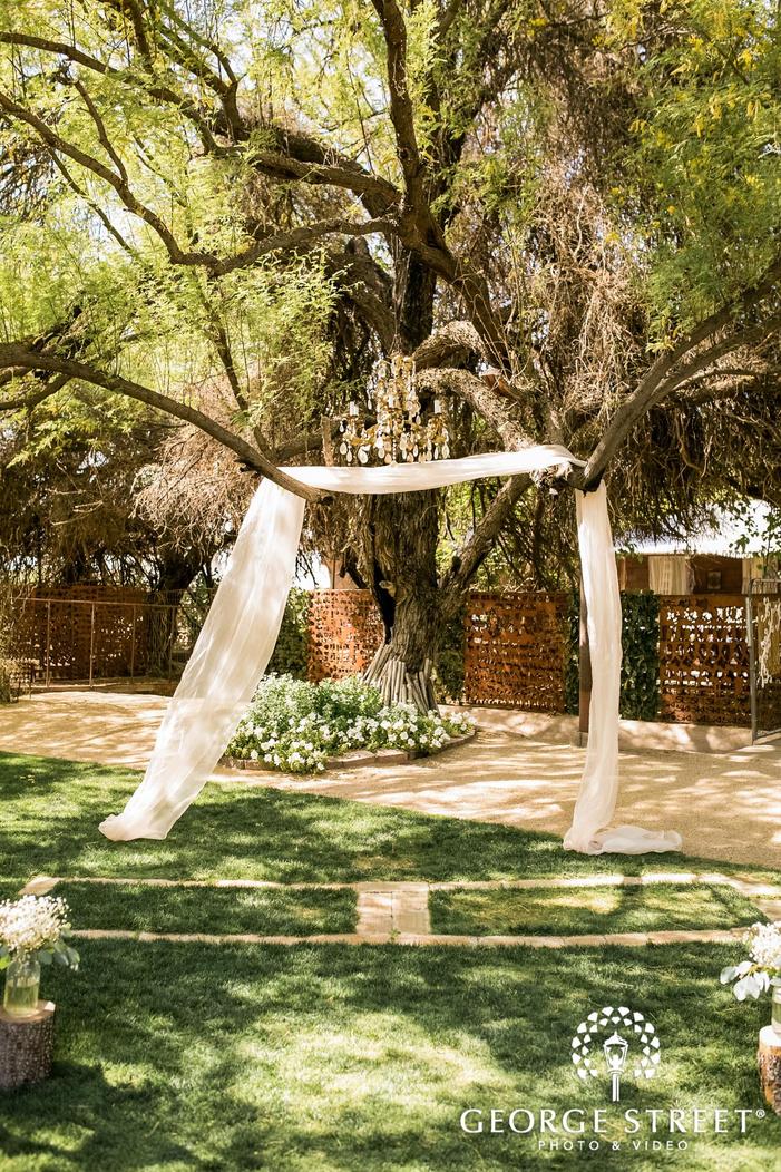 cute wedding ceremony altarat whispering tree ranch in phoenix wedding photo