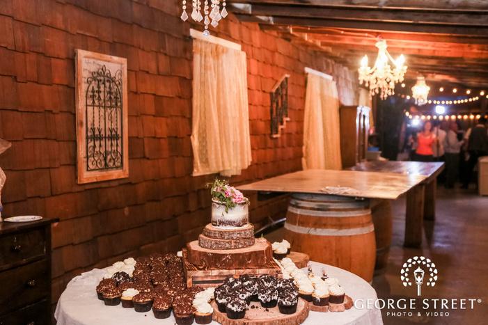 gorgeous dessert table at reception entry wedding photo