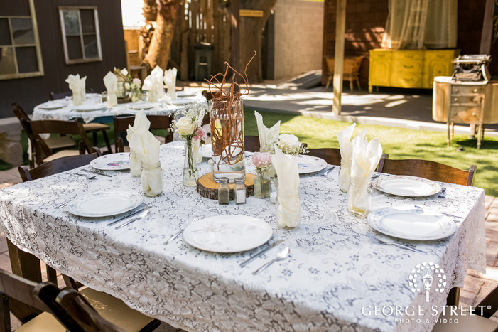 nice reception table details wedding photo