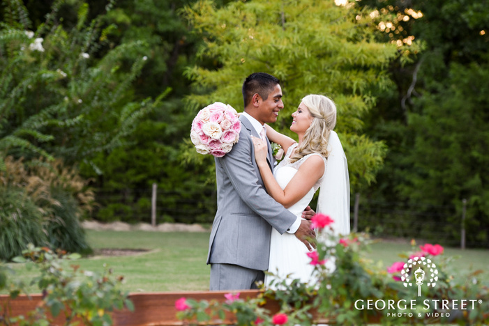 beautiful outdoor bride and groom portraits heritage springs dallas candid