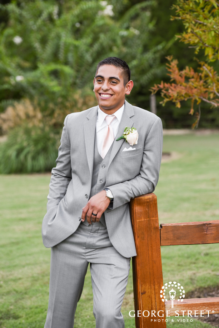 beautiful outdoor groom portraits heritage springs dallas