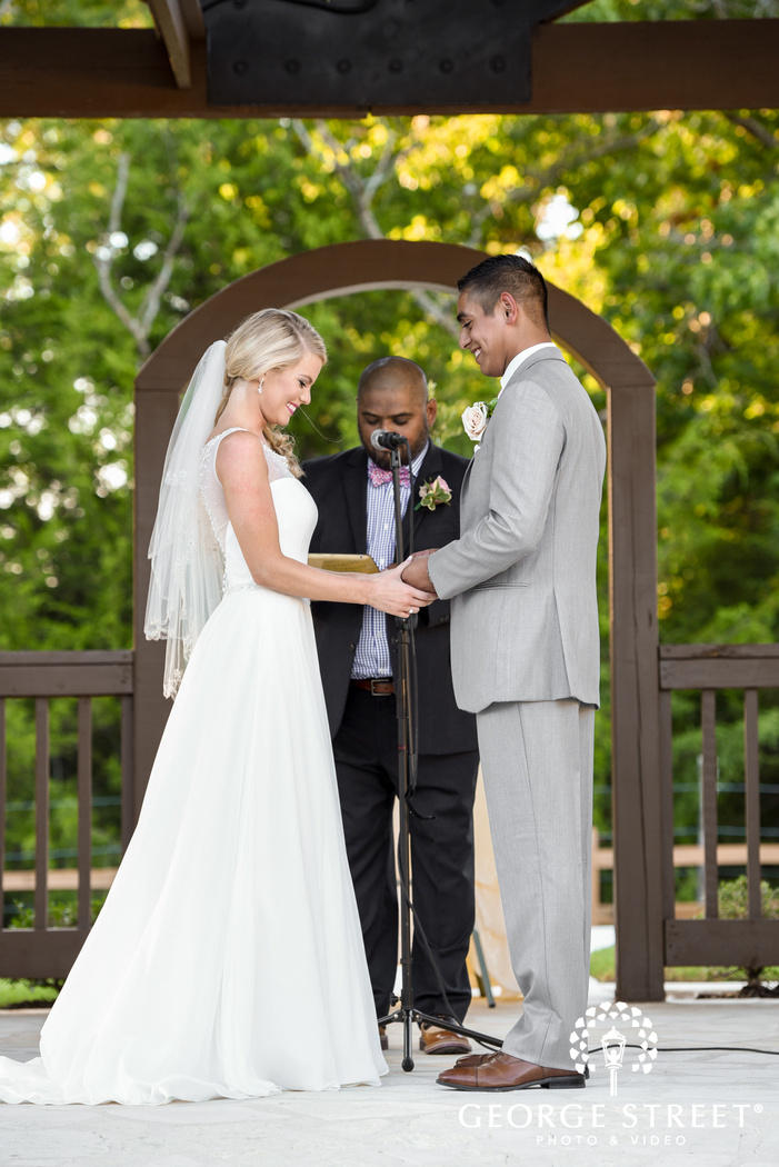 heritage springs beautiful outdoor wedding ceremony dallas candid