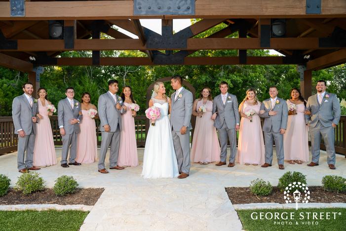 heritage springs dallas outdoor wedding party portraits