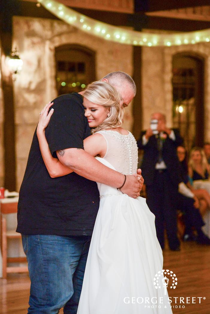 heritage springs wedding reception dallas bride and father dance