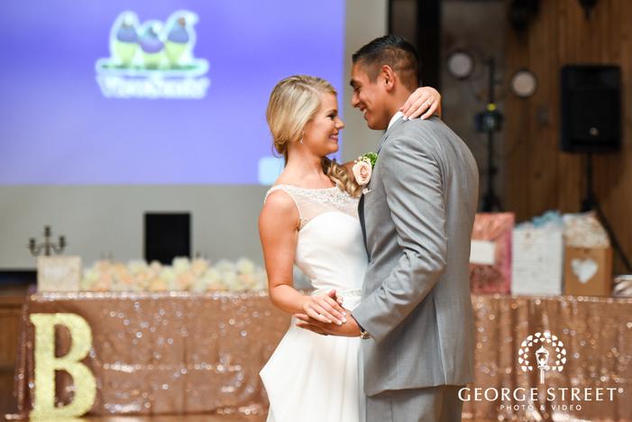 heritage springs wedding reception dallas bride and groom first dance