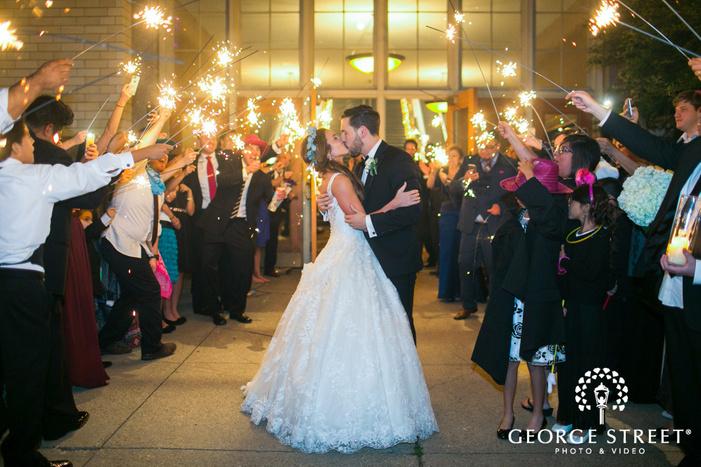 wedding photography sparkler sendoff