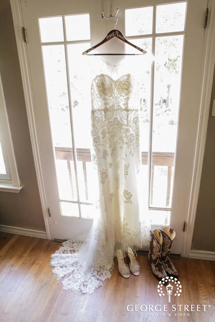 beautiful white bridal dress