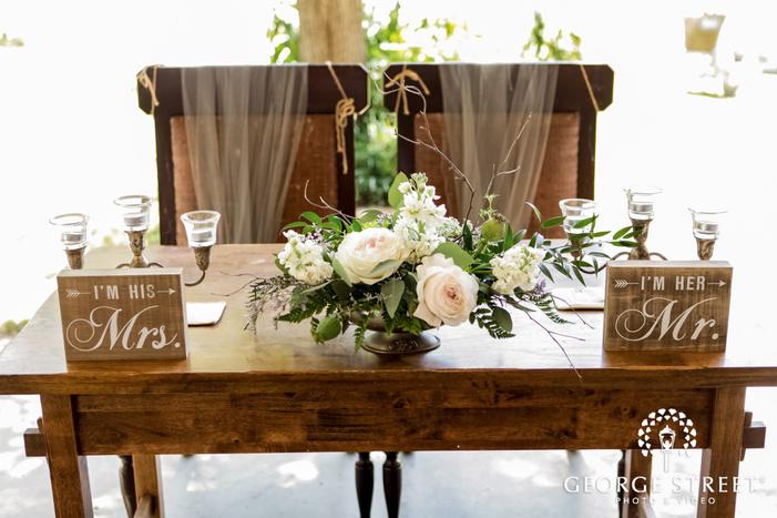 classy reception table detail wedding photos