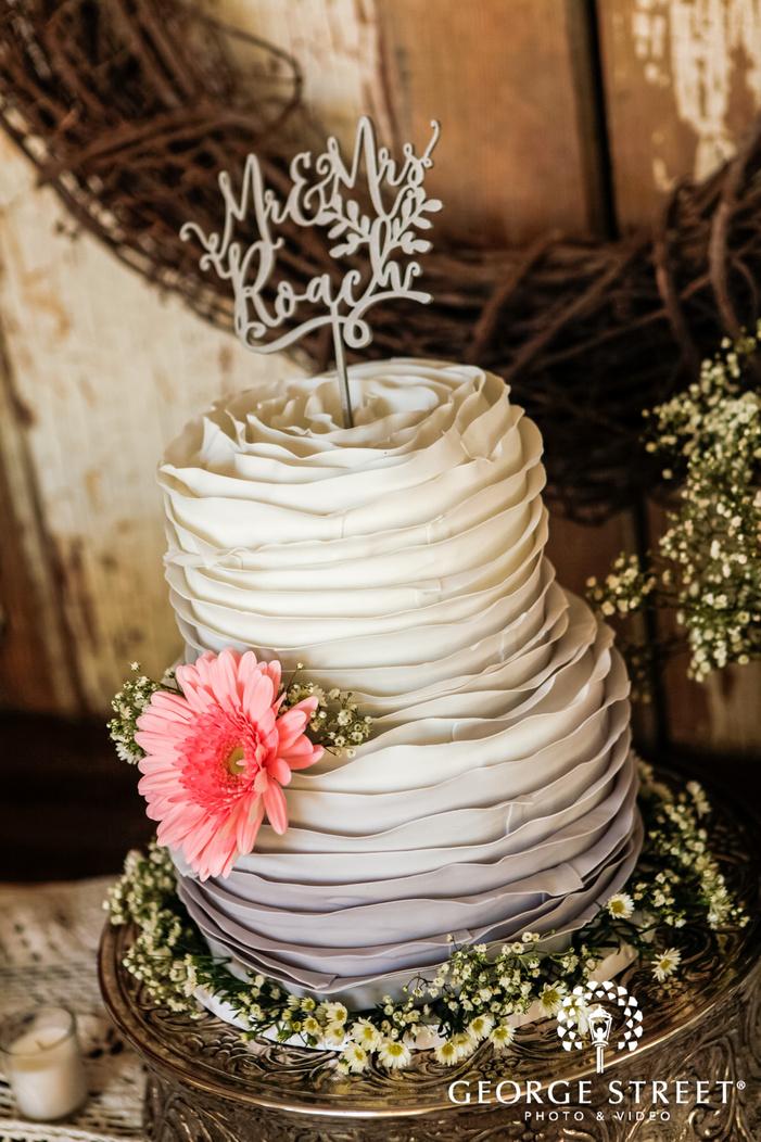 delightful wedding cake at reception