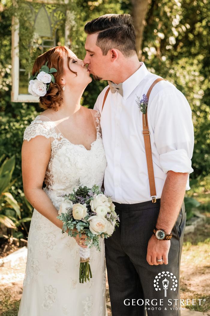 lovable bride and groom wedding photo