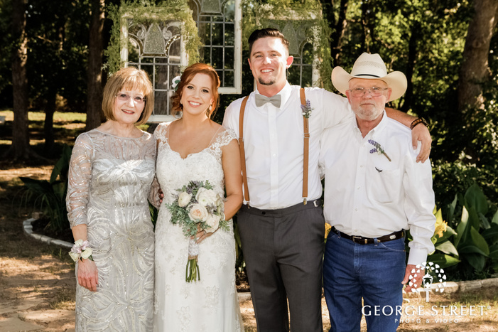 lovely bride and groom with guest