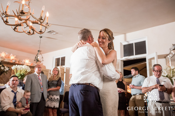 adorable bride and father reception dance at la san michele in austin