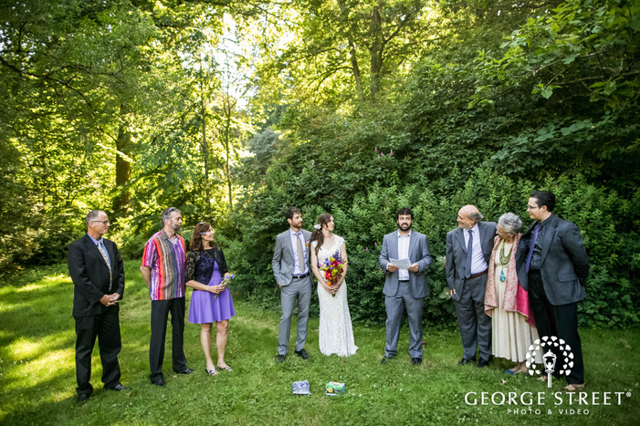 beautiful wedding ceremony at washington park arboretum graham visitor center in seattle