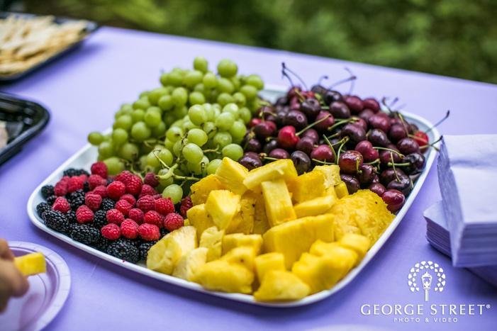 delightful reception fruit tray wedding photo