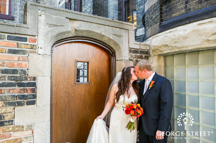 best place pabst brewery indoor wedding portraits