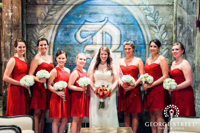 best place pabst brewery wedding party portraits
