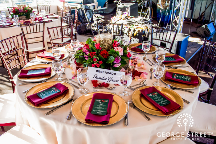 elegant reception table detail wedding photo