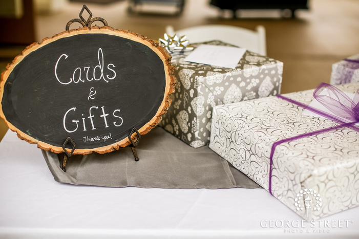 classy reception cards and gifts table wedding photo
