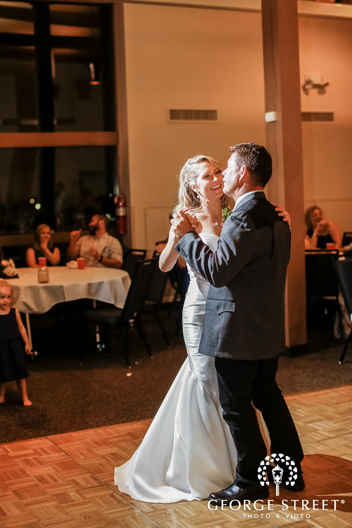 sweet bride and father reception dance wedding photos
