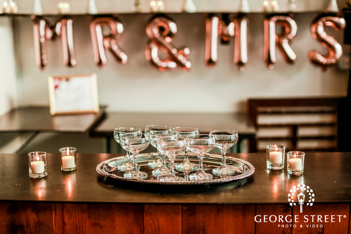 elegant reception beverages wedding photo