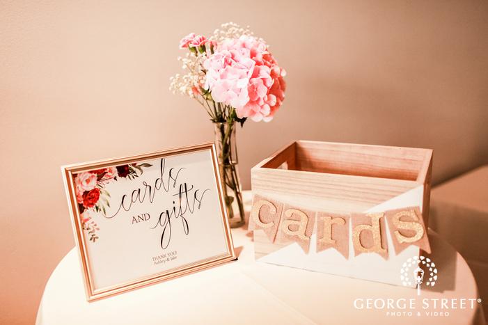 elegant reception details wedding photo