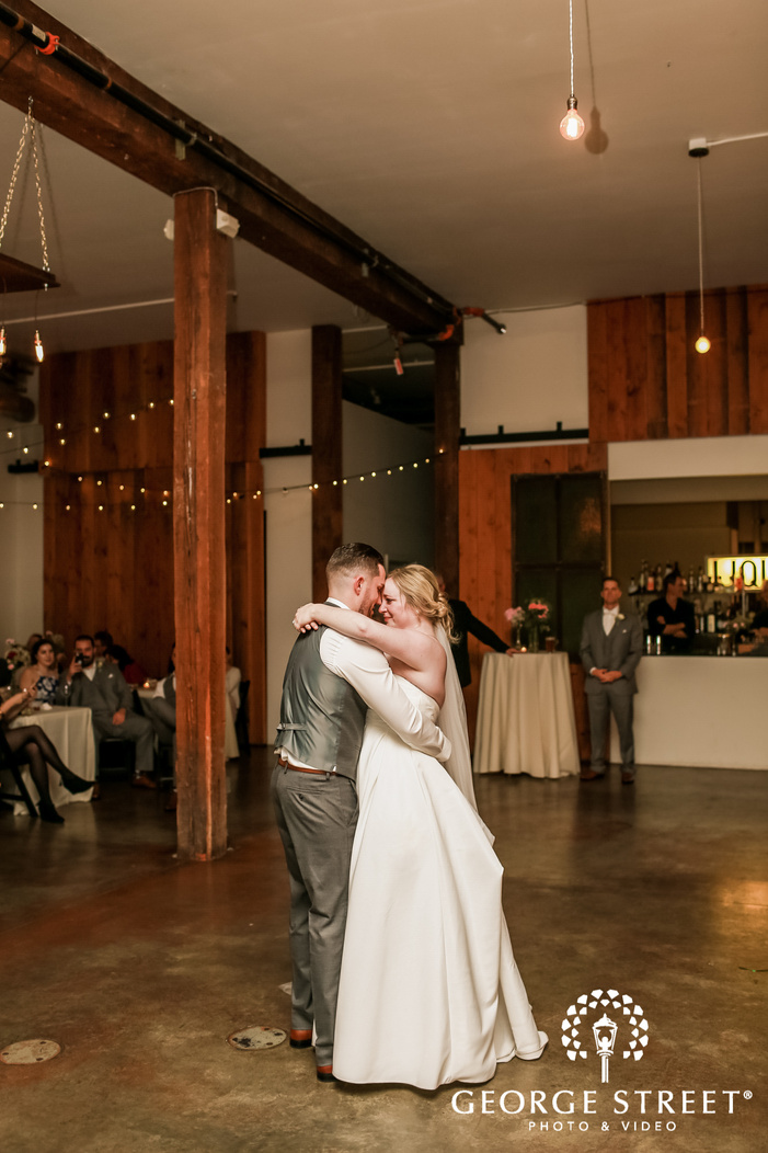 lovely couple first dance wedding photo