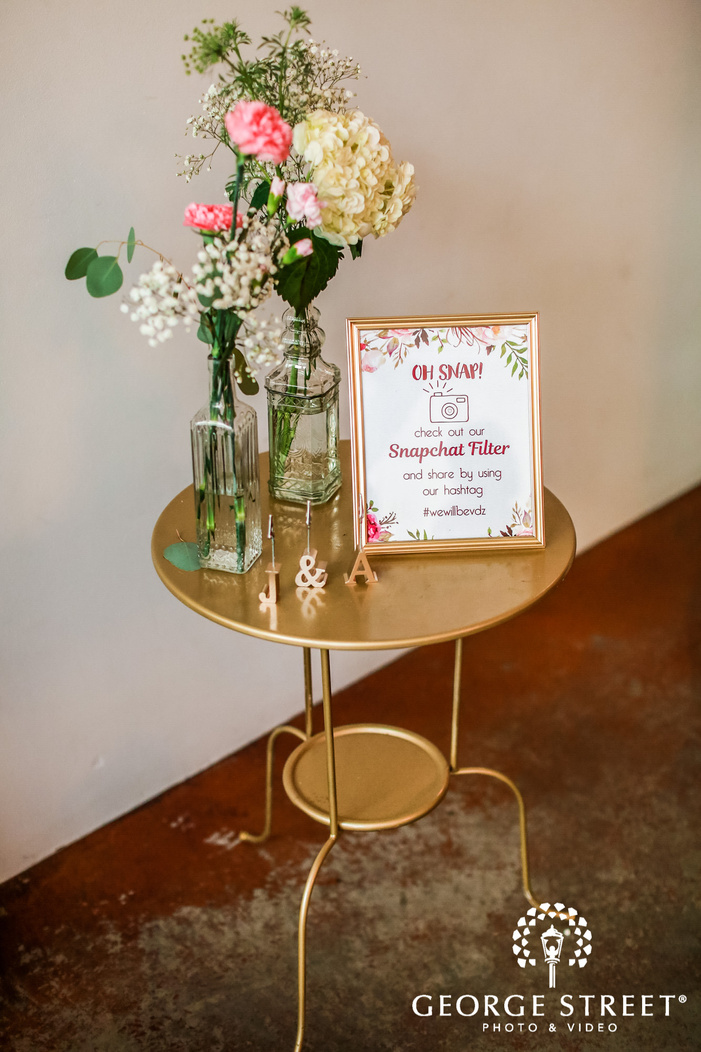 lovely reception table decor details wedding photo