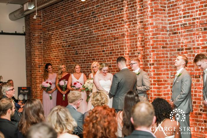 loving couple wedding ceremony wedding photo