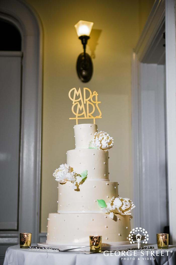 elegant four tier wedding cake wedding photo