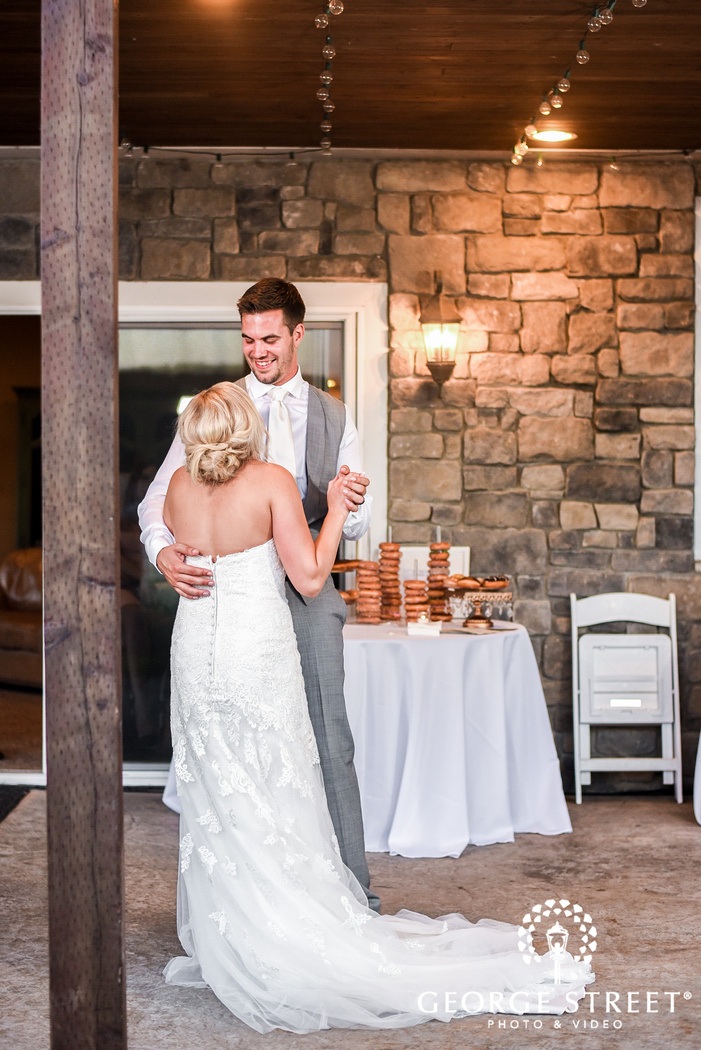 adorable bride and groom reception dance at the edgewater house in seattle
