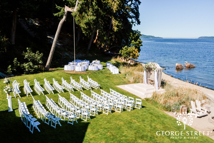 appealing ceremony venue at the edgewater house in seattle