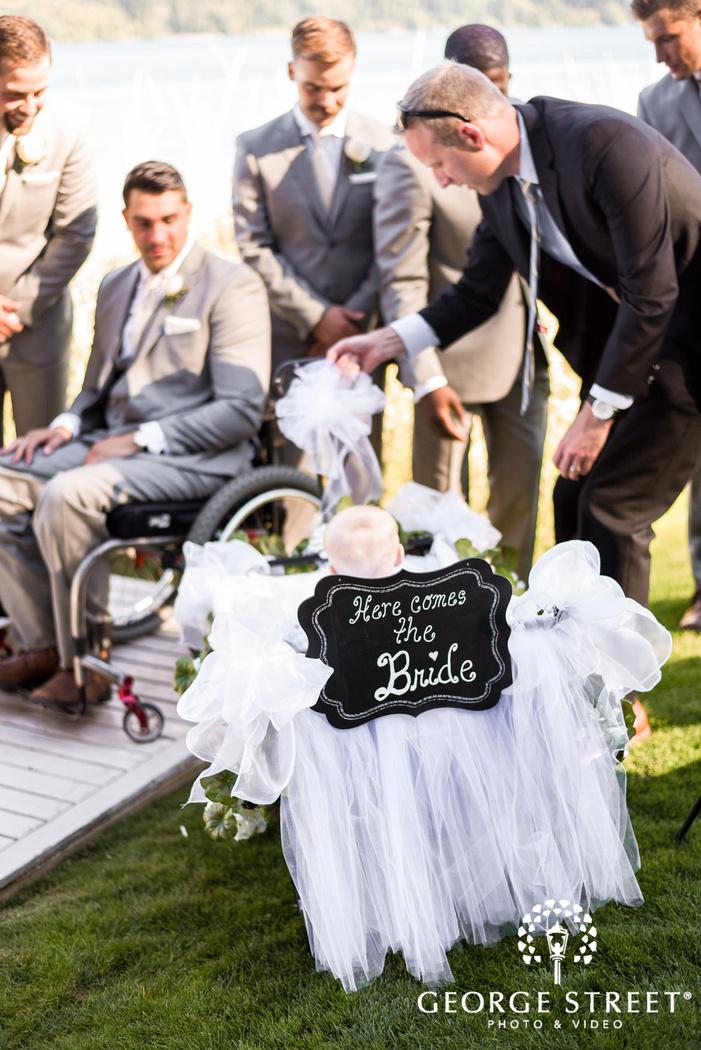 cute wedding ceremony detail