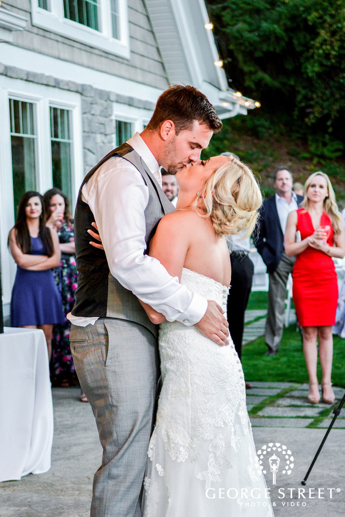 lovely bride and groom at reception