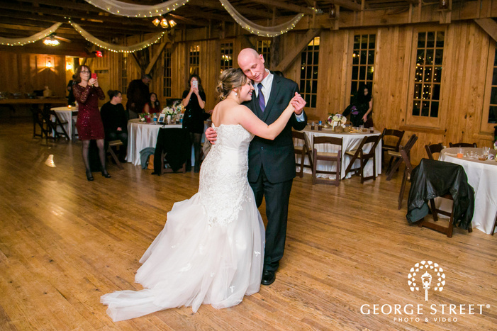 lovely bride and father reception ceremony dance at texas old town in austin