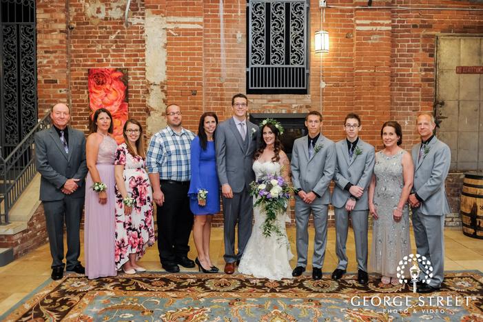 blissful group wedding photo
