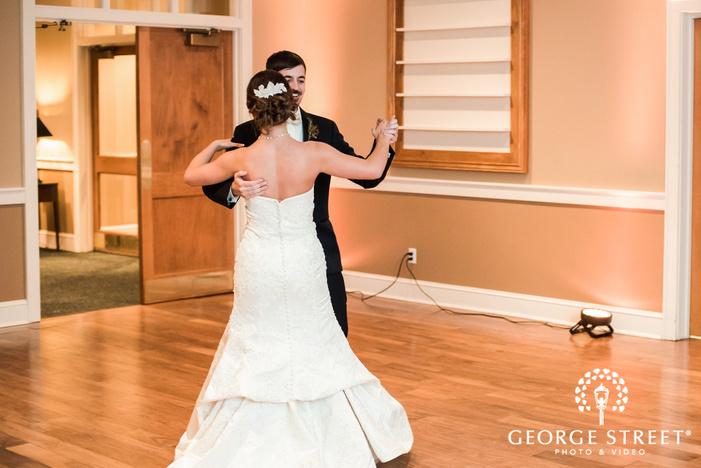 adorable bride and groom first dance wedding photos