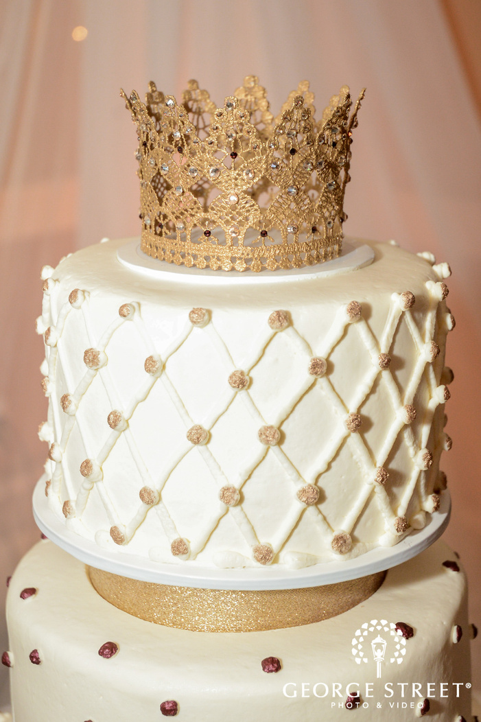 beautiful crown wedding cake topper wedding photo