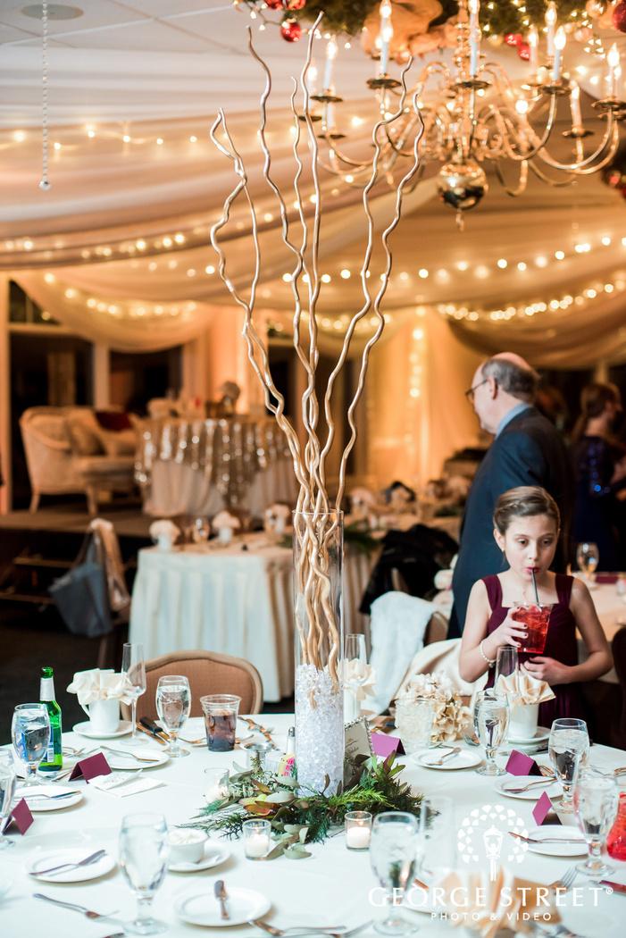 beautiful reception table details wedding photo