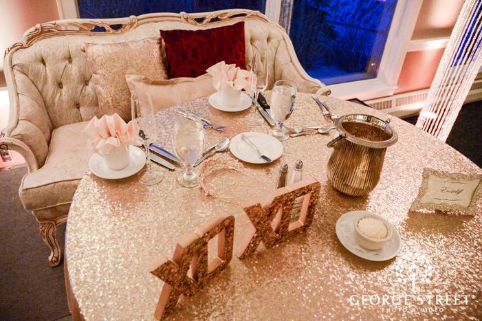 elegant bride and groom reception table wedding photos