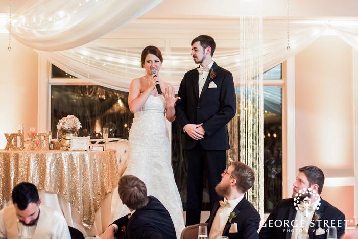 happy bride and groom reception wedding photo