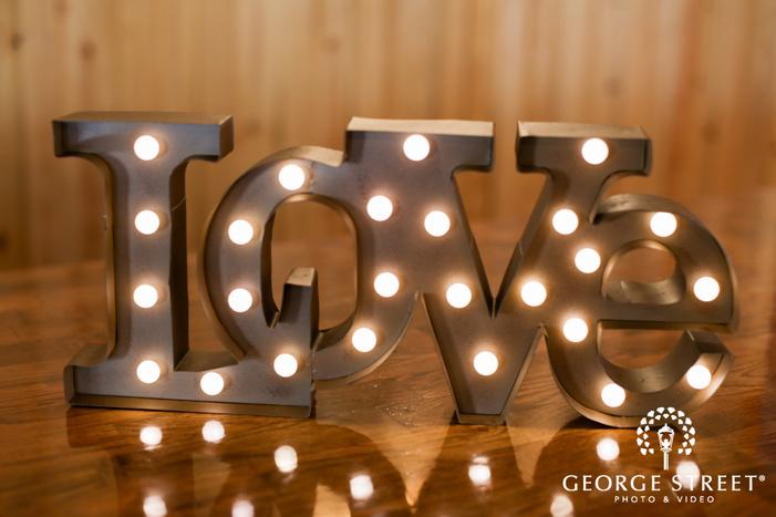 love marquee sign reception decor