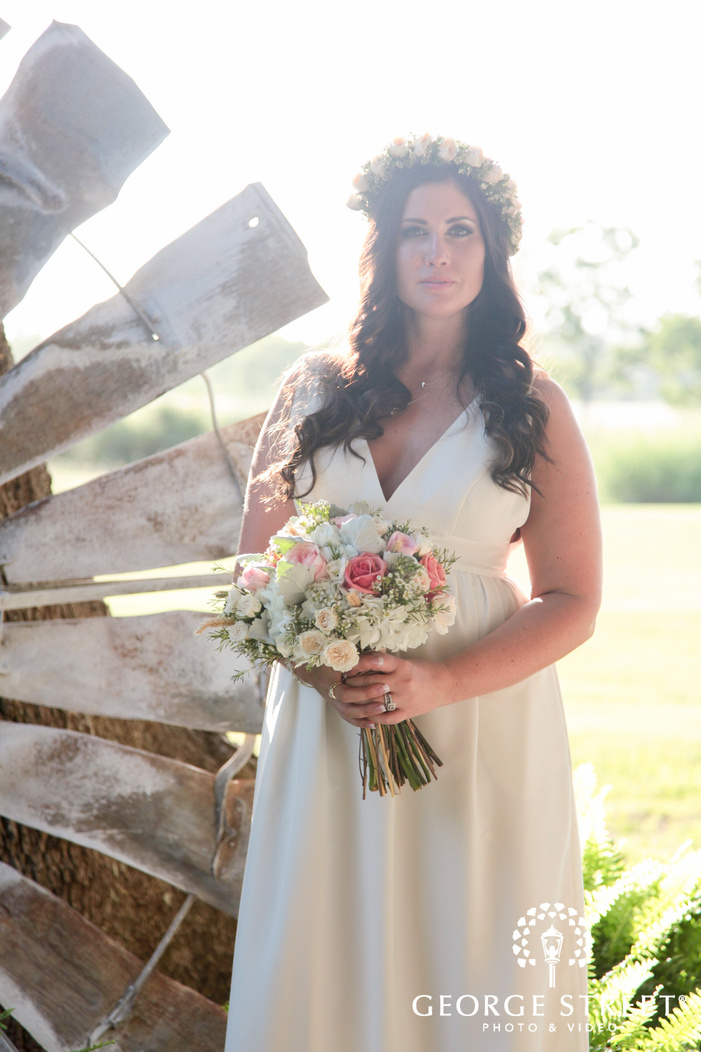 pecan springs ranch wedding beautiful outdoor bridal portrait