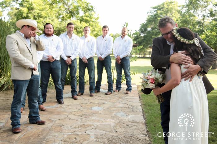 pecan springs ranch wedding beautiful outdoor cermony
