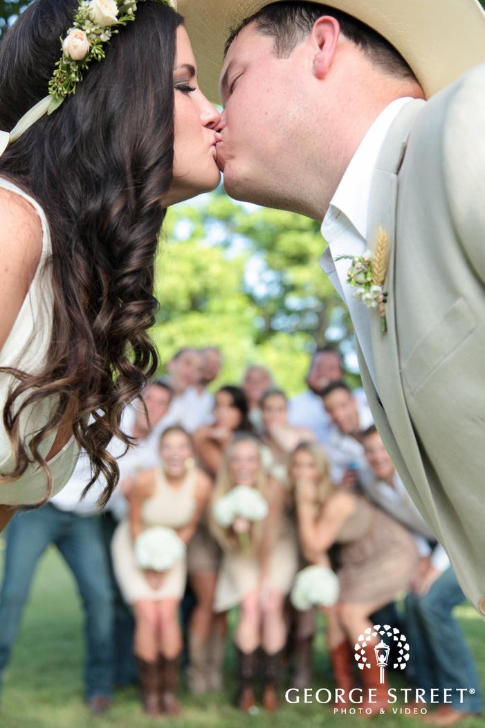 pecan springs ranch wedding beautiful outdoor group portrait