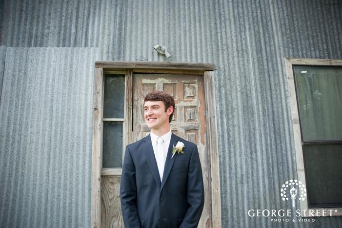 pecan springs ranch wedding outdoor groom portrait
