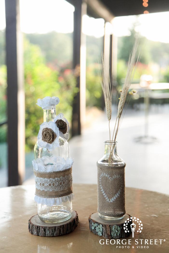 pecan springs ranch wedding table centerpiece
