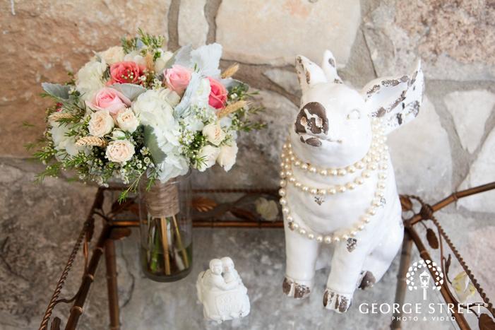 pecan springs ranch wedding table centerpiece bouquet